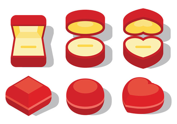 Free Ring Box Icons Vector - Free vector #410535