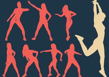 Zumba Woman Dancers Silhouette - Free vector #410545