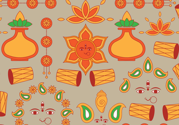 Indian Festival Icon - vector #410565 gratis