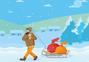 Free Toboggan Illustration - vector #410595 gratis