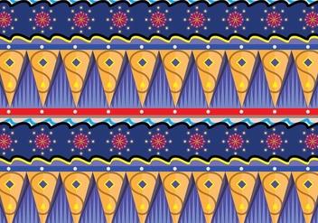 Gipsy Pattern Vector Art - бесплатный vector #410755