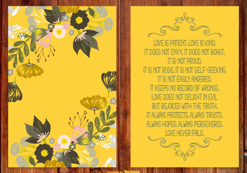 Beautiful Floral Poem Card - Kostenloses vector #410795