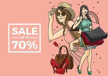 Mujer Shopping Free Vector - Free vector #410955