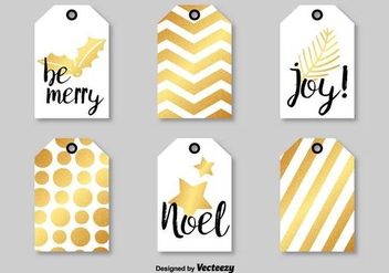 Modern Christmas Vector Tags - бесплатный vector #411215