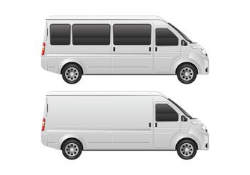 Vector Minibus Template - Free vector #411255