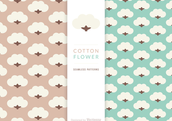 Free Vector Cotton Flower Patterns - Free vector #411645