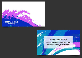 Free vector Colorful Business Card - Kostenloses vector #411735