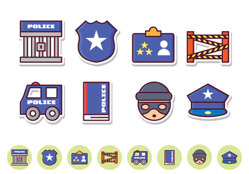 Free Police Icon Set - vector #412105 gratis