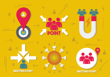Meeting Point Vector Design - Free vector #412235