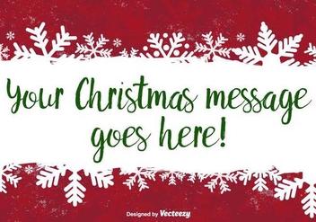 Christmas Snowflakes Vector Frame - Free vector #412325
