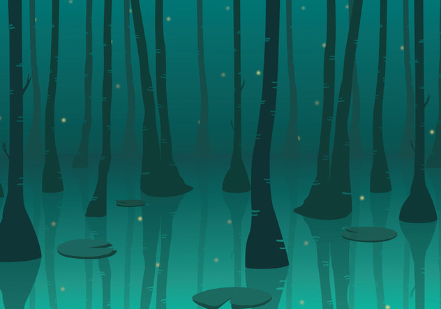 Swamp Background Free Vector - Free vector #412335
