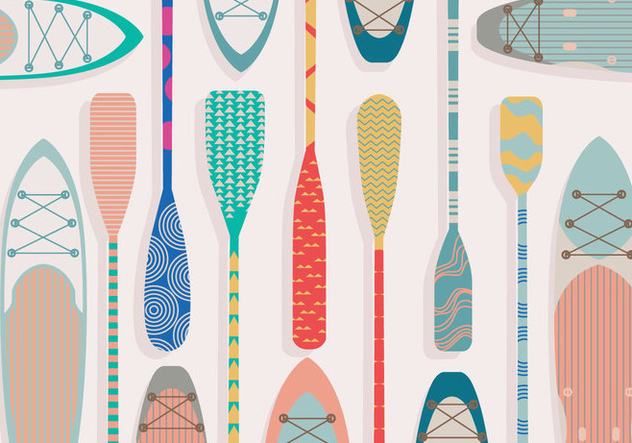 Paddle Colorful Vector - Free vector #412495