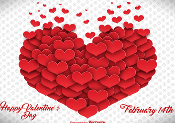 Vector Heart Made Of Hearts - vector #412515 gratis