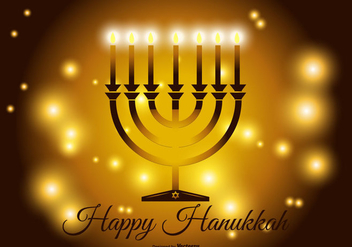 Happy Hanukkah Illustration - Free vector #412755
