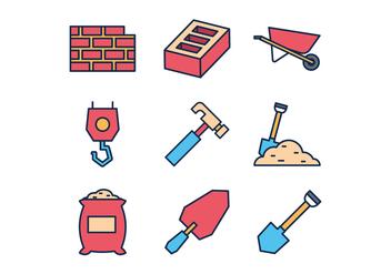 Free Masonry Icons - Free vector #412775