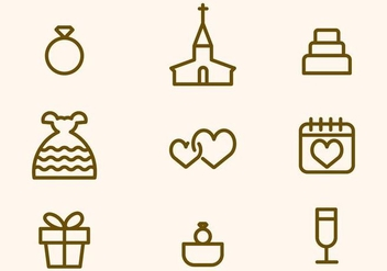 Free Wedding Vector Icon - vector gratuit #412805