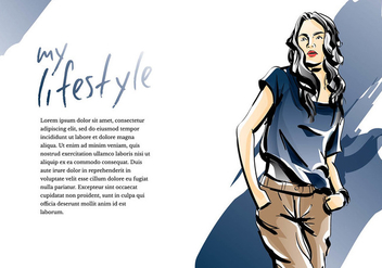 Mujer Fashion Sketch Template Free Vector - Free vector #412845