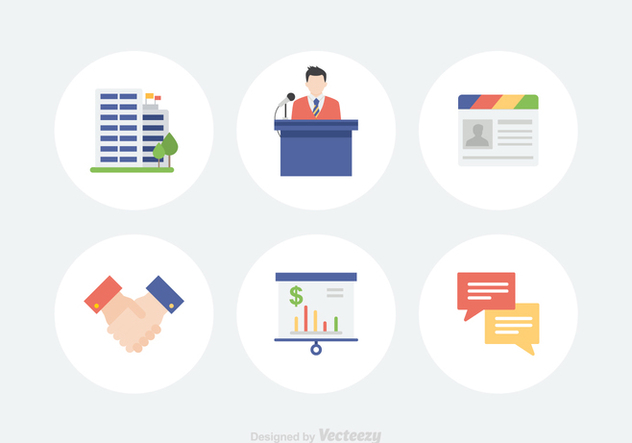 Free Vector Conference Icons - Free vector #412875