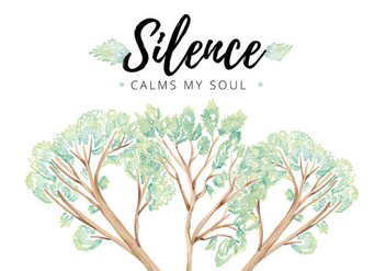 Silence Leaves Quote Vector - бесплатный vector #412915