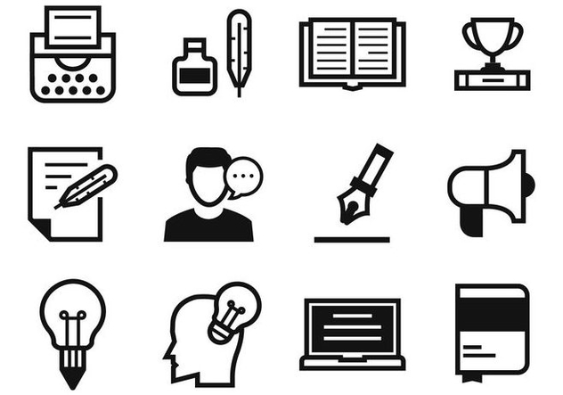Free Writers and Storytelling Icons Vector - Free vector #412995