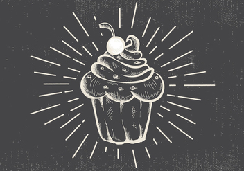 Free Hand Drawn Muffin Vector Background - Free vector #413185