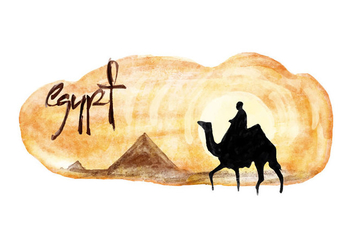 Free Egypt Watercolor Vector - Free vector #413245