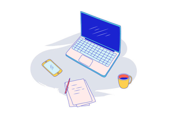 Laptop Vector Illustration - vector gratuit #413415