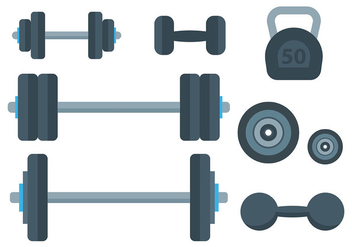 Free Dumbell Icons Vector - Free vector #413435
