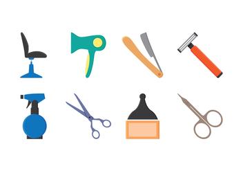 Free Barber Icon Set - Kostenloses vector #413475
