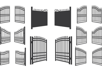 Open Gate Vector Illustration - Free vector #413625