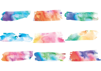 Vector Watercolor Patches - Free vector #413635