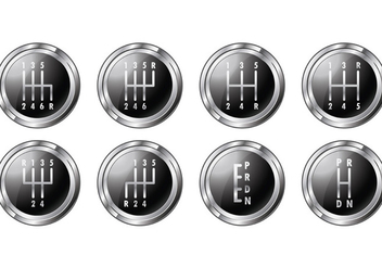 Set Of Gear Shift Symbols - vector gratuit #413645