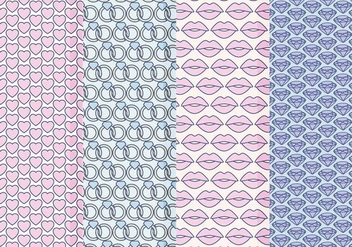 Vector Valentine's Day Patterns - Free vector #413665