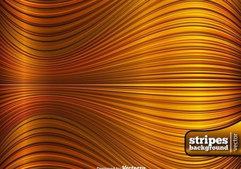 Golden Wavy Lines Abstract Background - vector gratuit #413675
