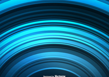 Vector Abstract Blue Rounded Lines - vector #413785 gratis