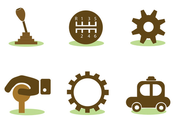 Car Elements Vector Set - Kostenloses vector #413815