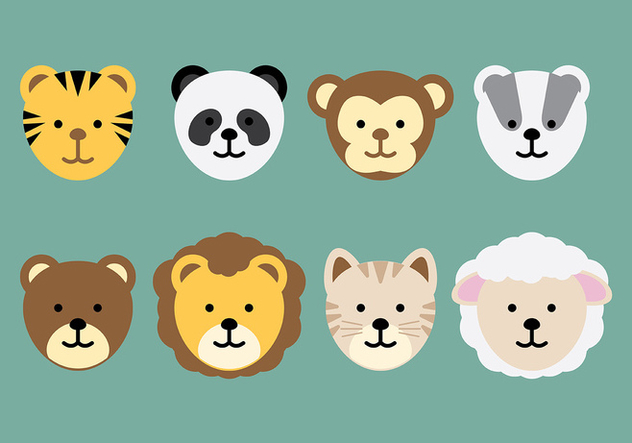 Animal Head Icon Vector - vector gratuit #413925