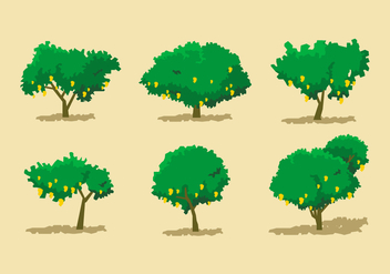Mango Tree Vector Sets - Free vector #413975