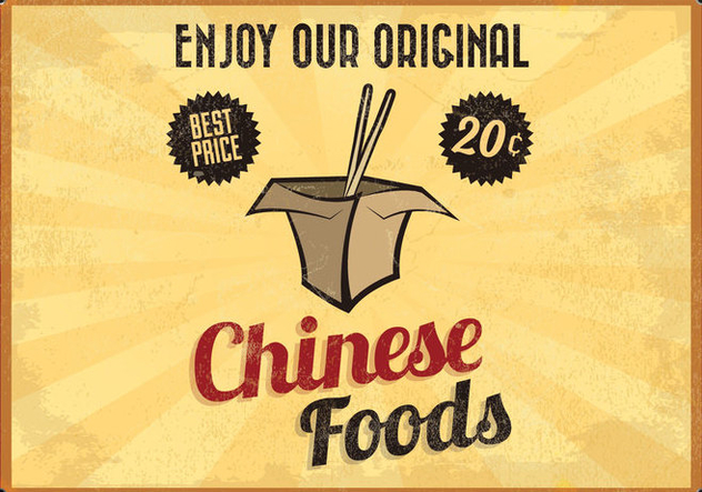 Chinese Takeout Glowing Vector - Free vector #413985