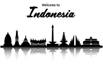 Free Indonesia Famous Landmark Vector - vector #414005 gratis