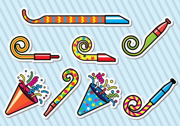 Party Blower Icons - Free vector #414045