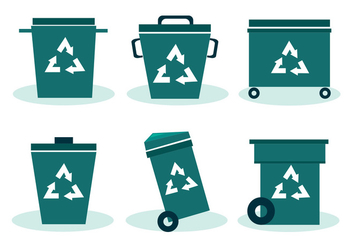 Trash Can Vector Set - Kostenloses vector #414095