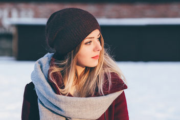 A girl winter portrait - Free image #414135