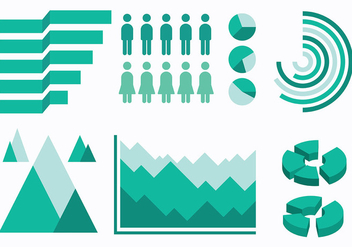 Free Infographic Elements Icons Vector - Free vector #414235