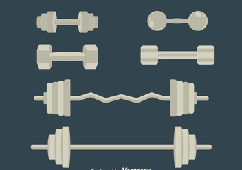 Dumbell Vector Set - vector gratuit #414385
