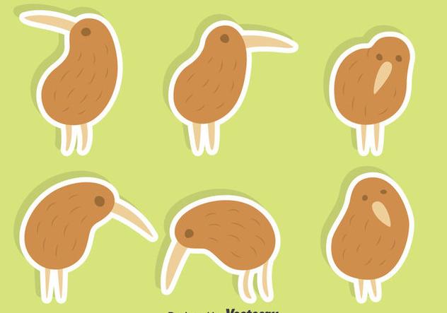 Cute Kiwi Bird Vector Set - Kostenloses vector #414405