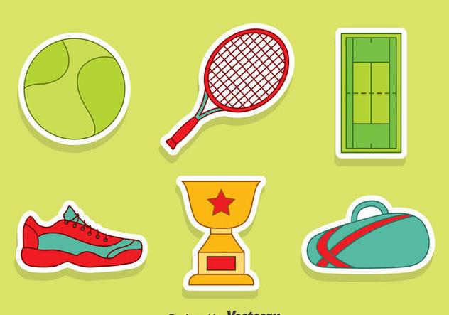 Nice Tennis Element Vector Set - Kostenloses vector #414415