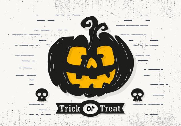 Trick or Treat Halloween Pumpkin Vector Illustration - Kostenloses vector #414455