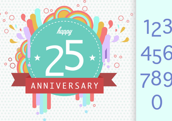 Anniversary Template - vector gratuit #414515