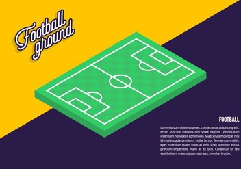 Football Ground Background - Kostenloses vector #414525
